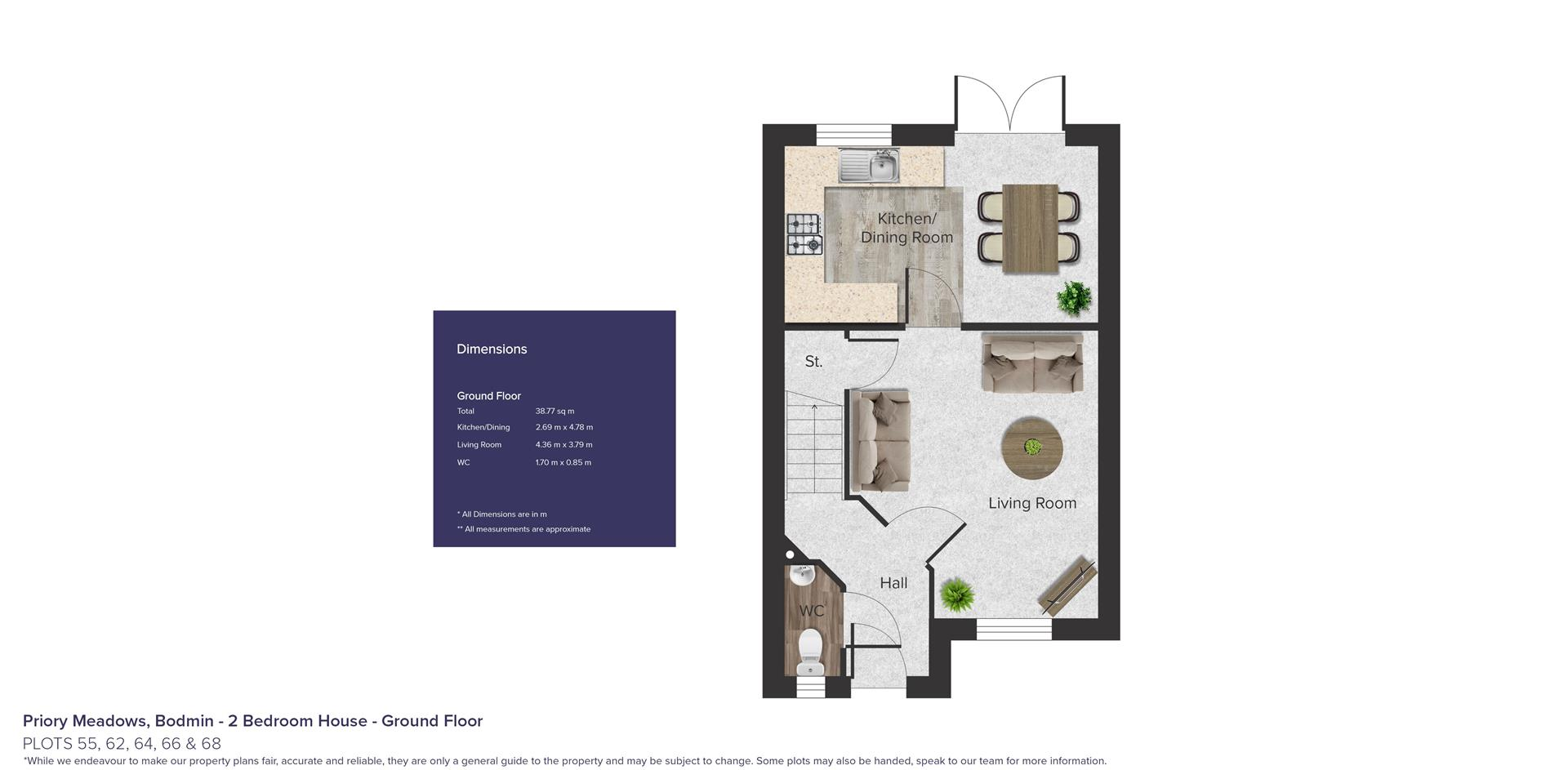 Priory Meadows, Bodmin_Plots 55, 62, 64, 66 & 68_G